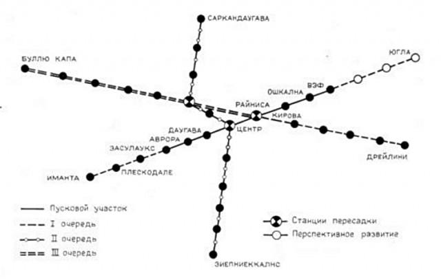 Вот схема рижского метро.