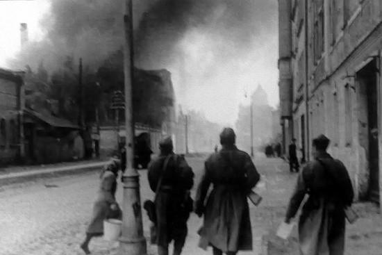 После боя на улицах риги 13 октября 1944